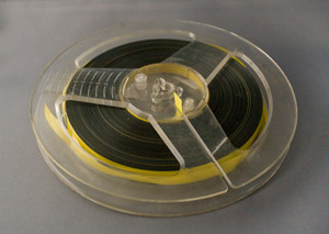 repaired reel to reel tape