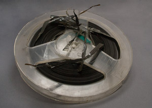 damaged  reel to reel tape